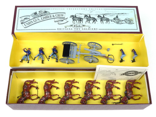 Britains 8869 Collectors Edition American Civil War Union Gun Limber And Crew