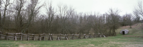"""Images Of The Land ShelfScapes 1738 Battlefield #2 10"""" x 30"""" Backdrop"""