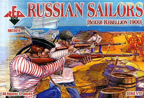 Red Box RB72019 Boxer Rebellion 1900 Russian Sailors 1/72 Scale Model Kit