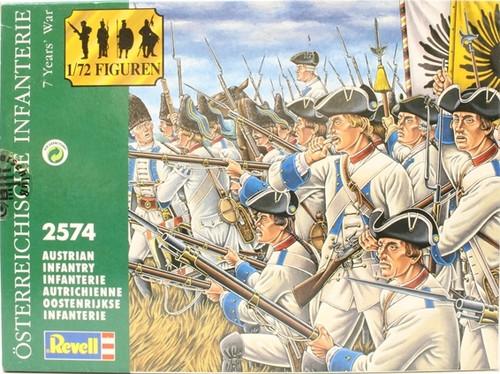 Revell 02574 7 Years War Austrian Infantry 48 Pcs 1/72 Scale Plastic Model Kit