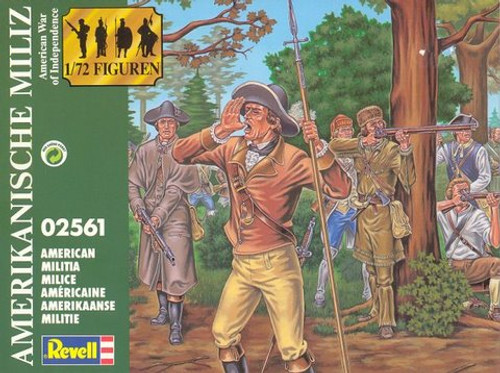 Revell 02561 American War Of Independence American Militia 1/72 Scale Model Kit