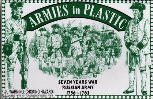 Armies In Plastic 5546 Seven Years War Russian Army 1/32 Plastic Toy Soldiers