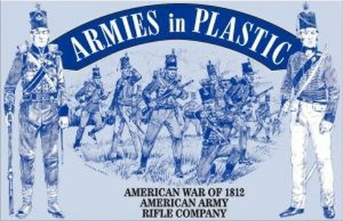 Armies In Plastic 5506 American War Of 1812 American Army Rifle Company 54mm