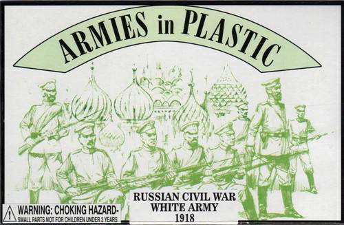 Armies In Plastic 5482 Russian Civil War White Army 1918 Plastic Toy Soldiers