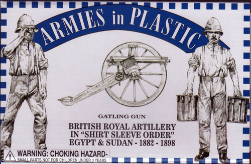 Armies In Plastic 5556 British Royal Artillery In Shirt Sleeve Order 1882-1898