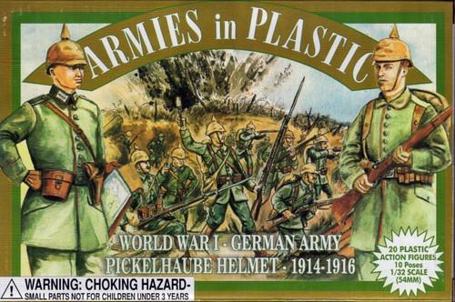 Armies In Plastic 5425C World War I German Army Pickelhaube Helmet 1914-1916