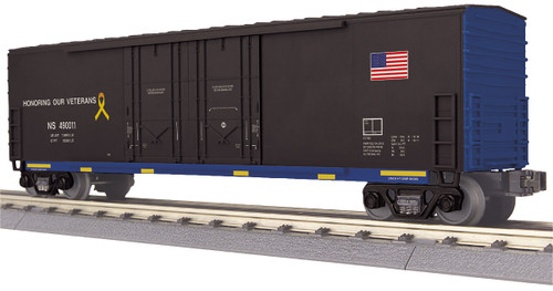 MTH Trains 30-74884 Norfolk Southern Veterans 50' Double Door Plugged Box Car
