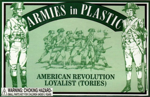 Armies In Plastic 5467 American Revolution Loyalist (Tories) Plastic Soldiers