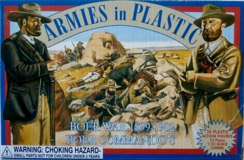 Armies In Plastic 5424 Boer War Boer Commandos 54mm Plastic Toy Soldiers