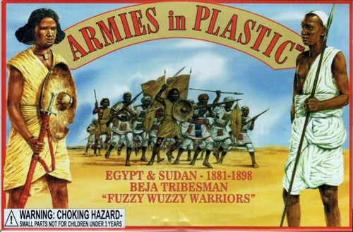 Armies In Plastic 5441 Beja Tribesman Fuzzy Wuzzy Warriors 54mm Plastic Soldiers