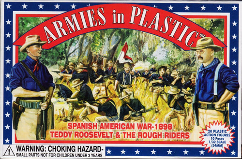 Armies In Plastic 5414 Spanish American War Teddy Roosevelt And The Rough Riders