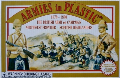 Armies In Plastic 5415 British Army On Campaign NW Frontier Scottish Highlanders