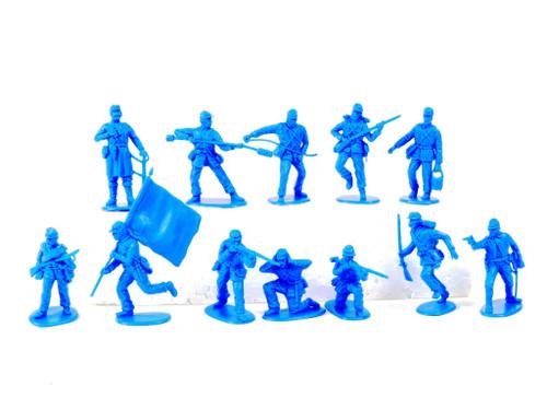 TATS 54mm Civil War Union Artillery Plastic Toy Soldiers Figures Blue