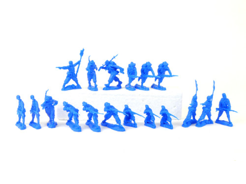 TATS The Marx-Man 54mm Northern Zouaves Plastic Toy Soldiers Blue