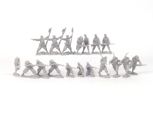 TATS The Marx-Man 54mm Northern Zouaves Plastic Toy Soldiers Grey