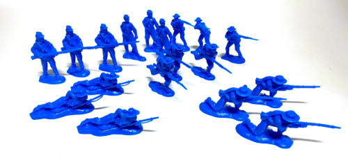 TATS The Marx-Man 54mm Rebel Vets Plastic Toy Soldiers Figures Blue