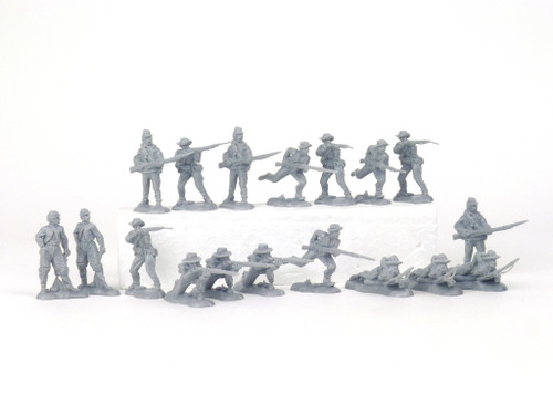 TATS The Marx-Man 54mm Rebel Vets Plastic Toy Soldiers Figures Gray