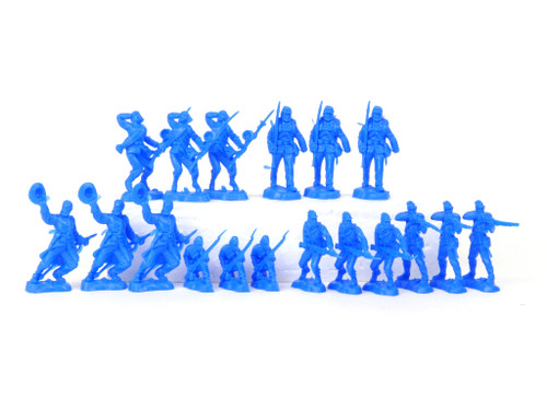 TATS The Marx-Man 54mm Fighting Feds Plastic Toy Soldiers Blue