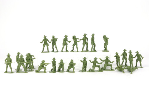 TATS Cowboys 54mm Plastic Toy Soldiers Figures 10 Poses/25 Pieces