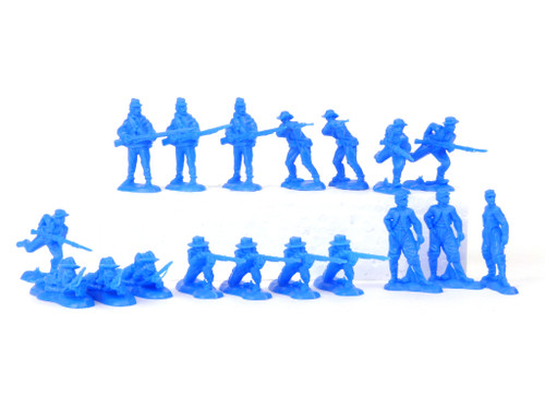 TATS The Marx-Man 54mm Confederate Rebel Vets Plastic Toy Soldiers Figures Blue