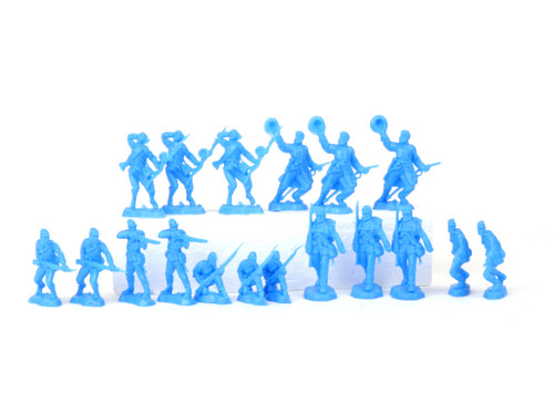 TATS 54mm Union Fighting Feds Plastic Toy Soldiers Figures Powder Blue