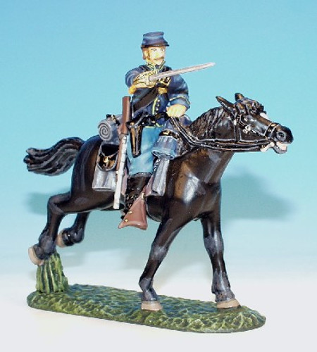 Frontline Figures MUC.6 Union Trooper Lunging With Sword Mounted American Civil War