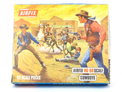Airfix Plastic Model Kit S7 Cowboys HO-OO Scale Figures