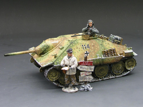 King & Country Toy Soldiers BBG005 WWII Battle Of The Bulge Hetzer Tank