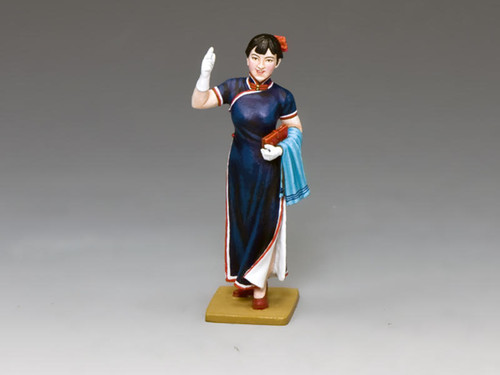 King & Country Soldiers HK271M Streets Of Old Hong Kong Shanghai Lady In Blue