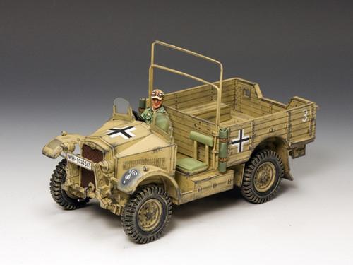 King & Country AK077 German Morris CS8 15Cwt. Truck Afrika Corps