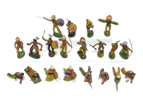 Elastolin Historical Collection Indian Figures Group of 20 Figures 70MM