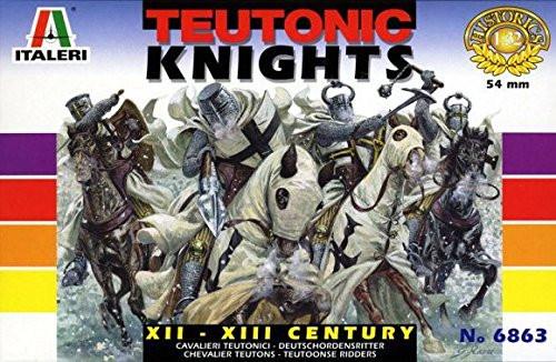 Italeri 6863 Historics XII-XIII Century Teutonic Knights 54mm Plastic Model Kit
