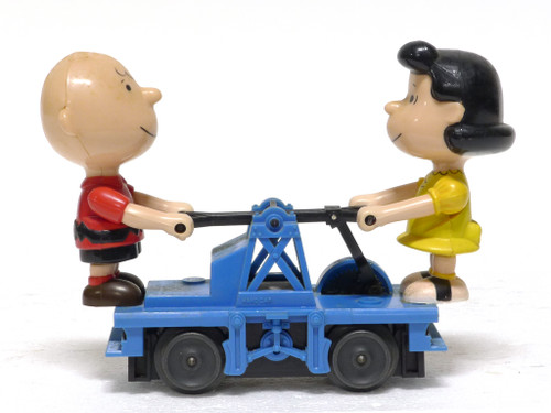 Lionel Trains 6-18413 Operating Charlie Brown And Lucy Hand Car O Gauge