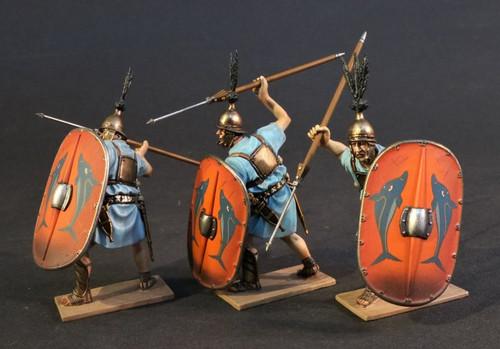 John Jenkins Designs BTMRR-141516N Ancient Rome Three Roman Warship Marines