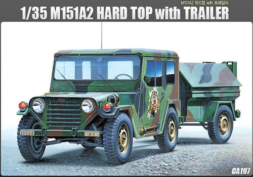Academy M151A2 Hard Top With Trailer 1/35 Scale Model Kit 13012