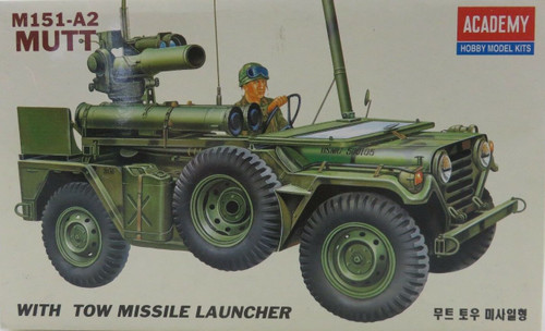 Academy M151-A2 MUTT With Tow Missile Launcher 1/35 Scale Model Kit 1325