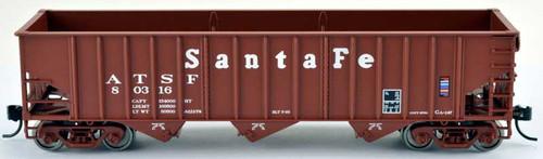 Bowser 42502 Santa Fe HO Scale 70 Ton 14 Panel Hopper Car