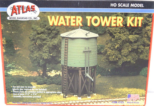 Atlas Trains HO Scale Water Tower Model Train Building Kit 703