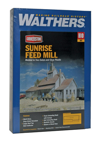 Walthers Cornerstone 933-3061 Sunrise Feed Mill HO Scale Building Kit