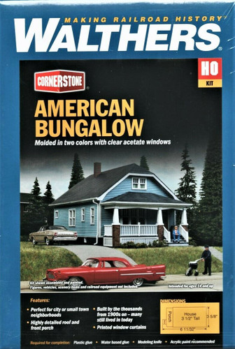 Walthers Cornerstone 933-3787 American Bungalow HO Scale Building Kit