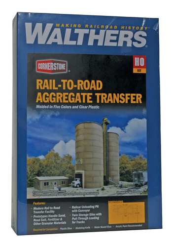 Walthers Cornerstone 933-4036 Rail-To-Road Aggregate Transfer HO Building Kit