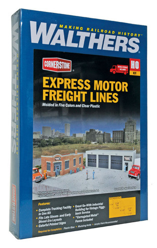 Walthers Cornerstone 933-4049 Express Motor Freight Lines HO Scale Building Kit