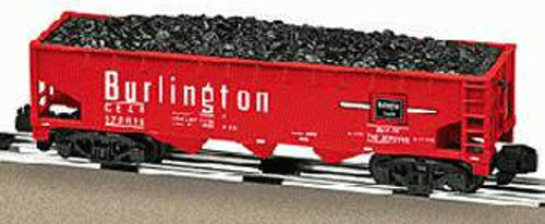 American Flyer Lionel  6-48622 Burlington Three Bay Hopper With Coal Load