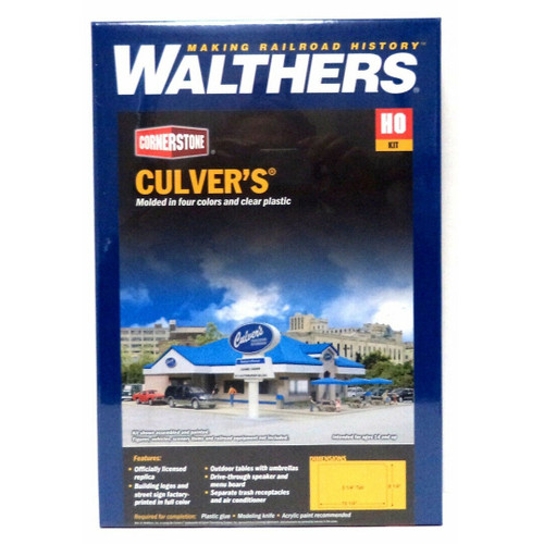 Walthers Cornerstone 933-3486 Culver's HO Scale Building Model Train Kit