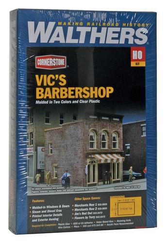 Walthers Cornerstone 933-3471 Vic's Barbershop HO Scale Building Model Train Kit