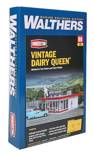 Walthers Cornerstone 933-3484 Vintage Dairy Queen HO Scale Building Model Train Kit