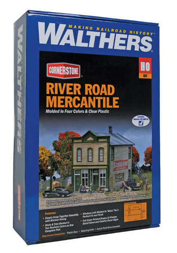 Walthers Cornerstone 933-3650 River Road Mercantile HO Scale Building Model Train Kit