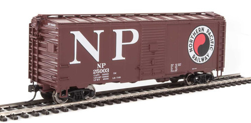 Walthers Mainline 910-1346 Northern Pacific Ready To Run HO Scale Box Car