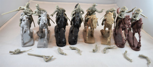 TSSD Toy Soldiers Of San Diego Set 24 ACW American Cavalry Horse Soldiers Gray