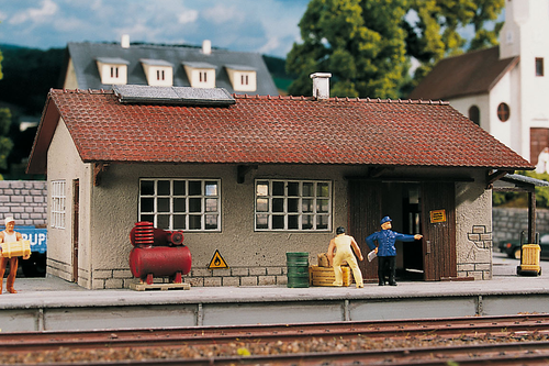Piko Trains 61824 HO Scale Hobby Line Burgstein Goods Depot Building Kit